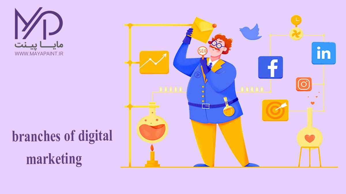 شاخه های دیجیتال مارکتینگ